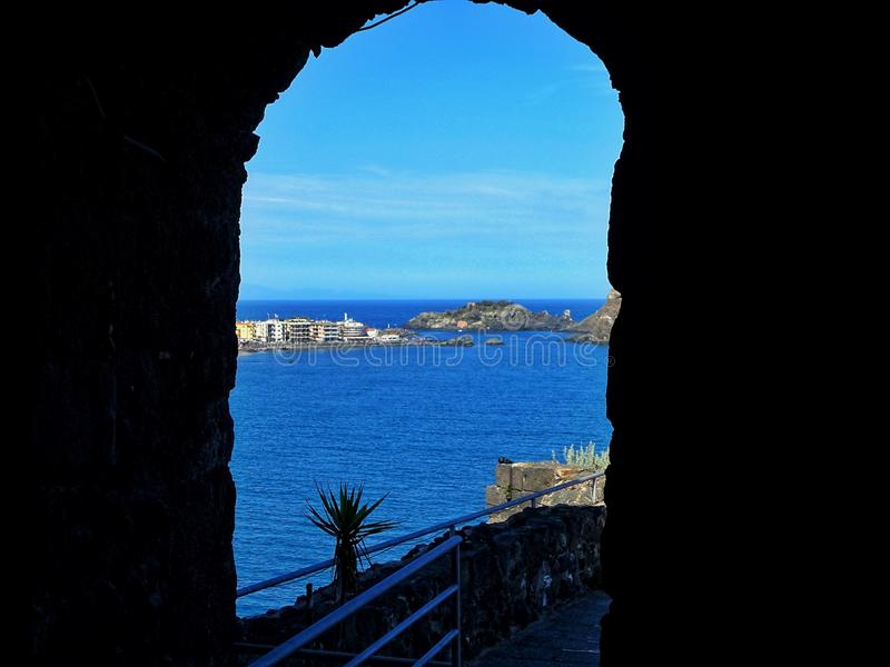 Escape. Blue, seea, sea, italy, history royalty free stock images