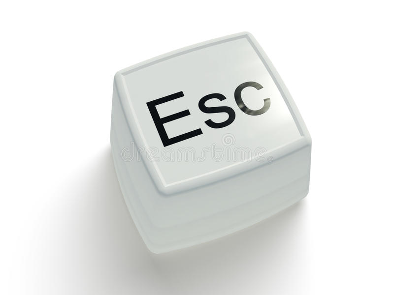 Download Escape Button On A White Background Stock Illustration - Image: 23407530