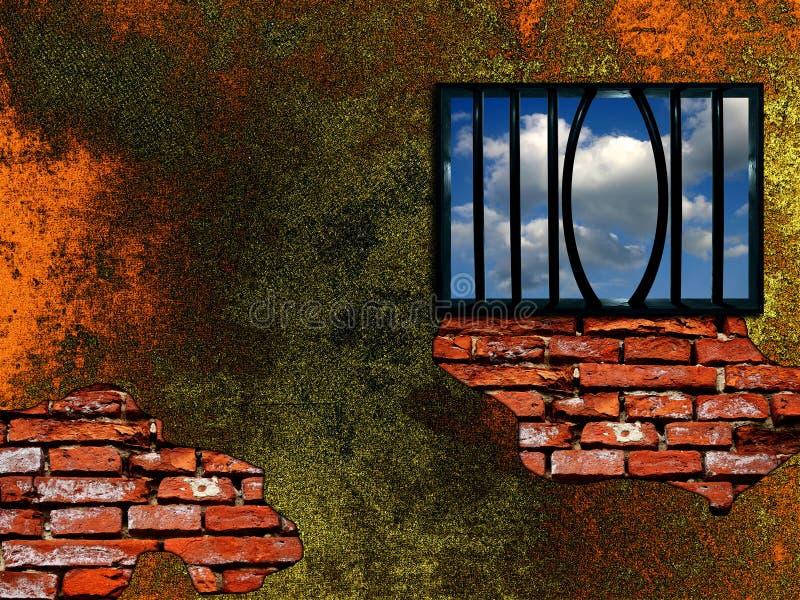 Escape conception stock illustration