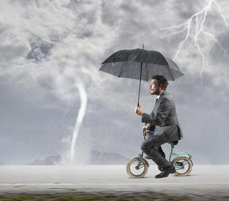 Escape From Crisis Stock Photography