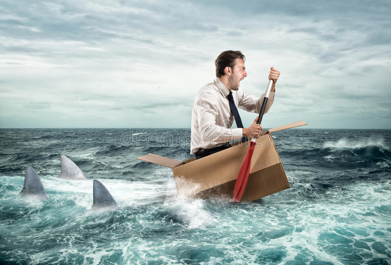 Escape from crisis royalty free stock photo