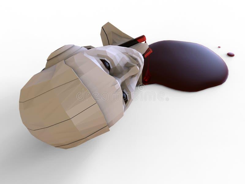 Escape da cabeça do robô ilustração royalty free