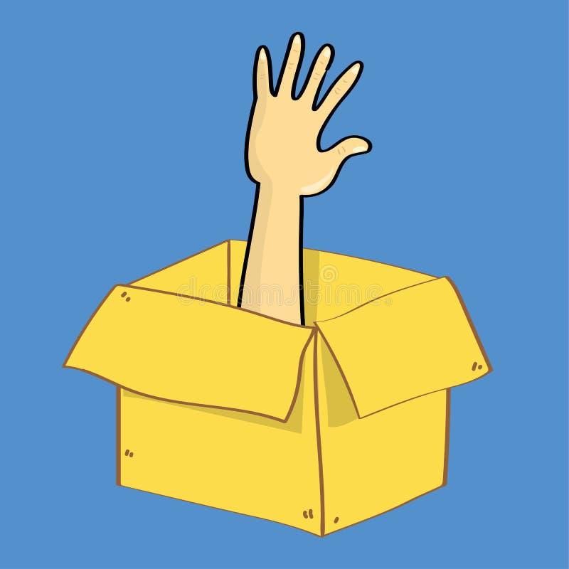 Escape da caixa ilustração royalty free