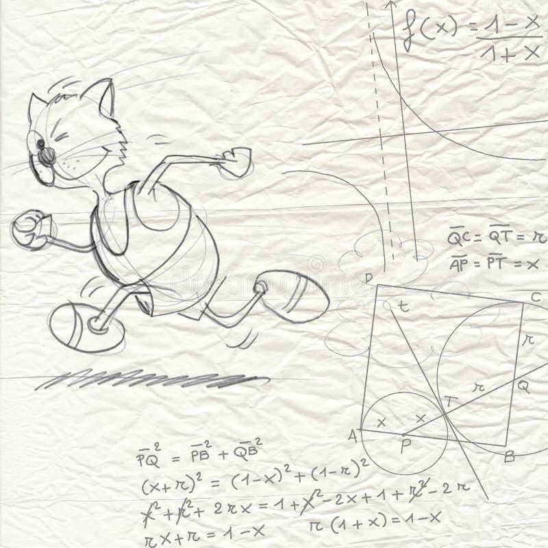 Escape da matemática ilustração royalty free