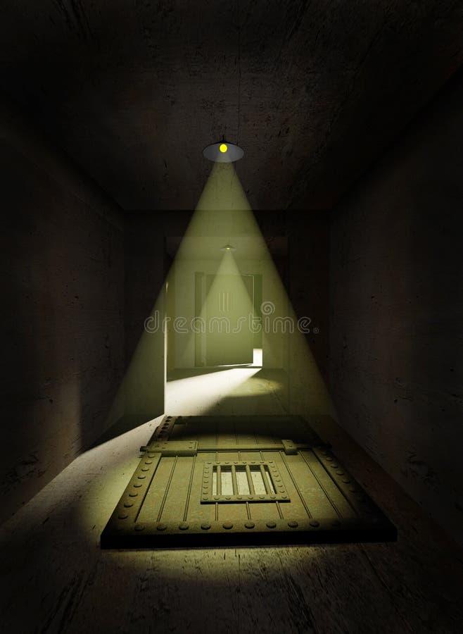 Escape da prisão ilustração do vetor