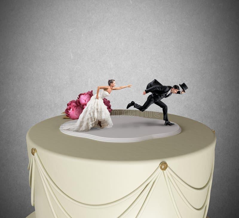 Escape de la boda imágenes de archivo libres de regalías
