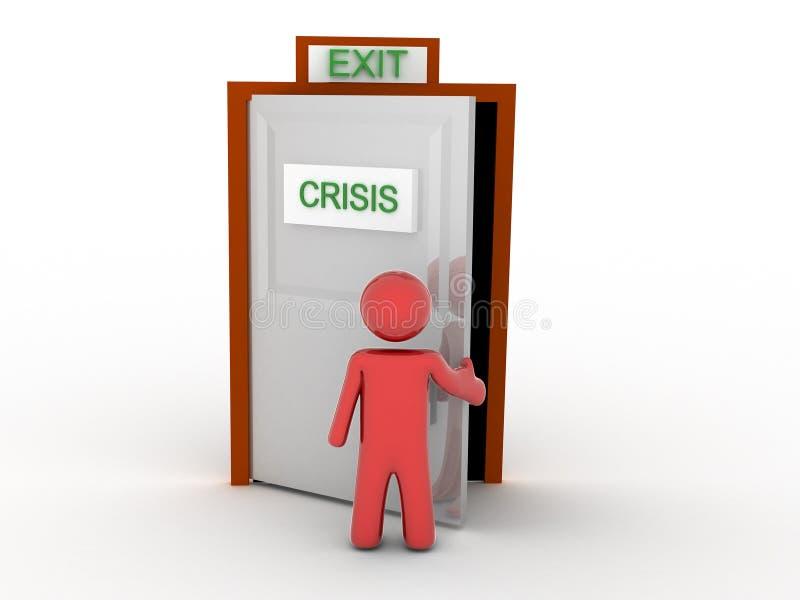 Escape de la crisis stock de ilustración