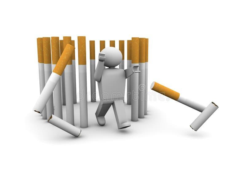 Escape de la jaula de los sigarettes libre illustration