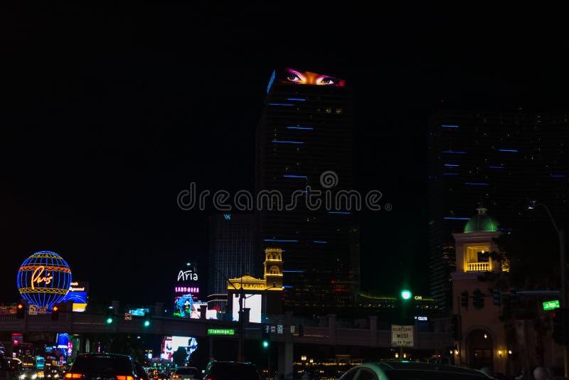 Escape de la noche en Las Vegas fotografía de archivo libre de regalías