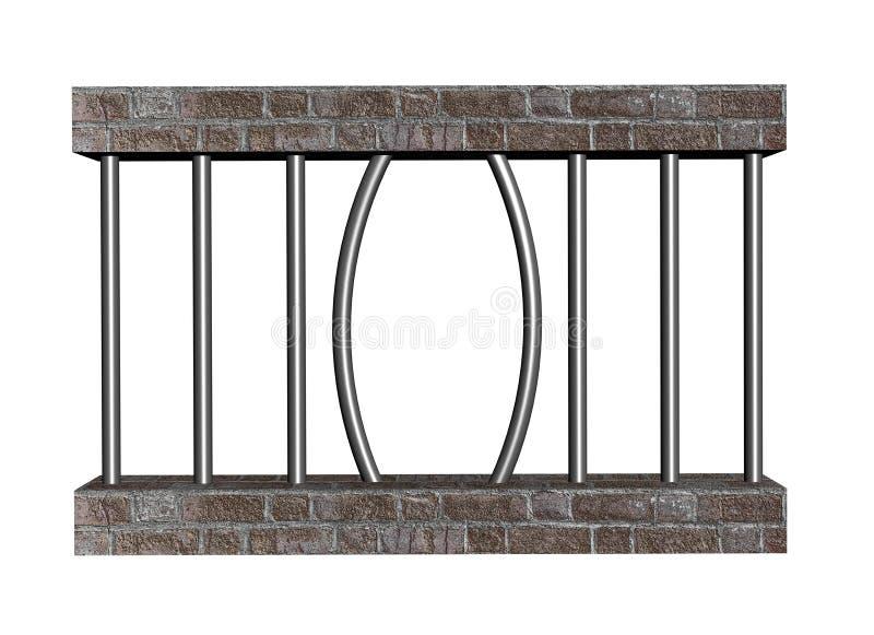 Escape de la prisión ilustración del vector