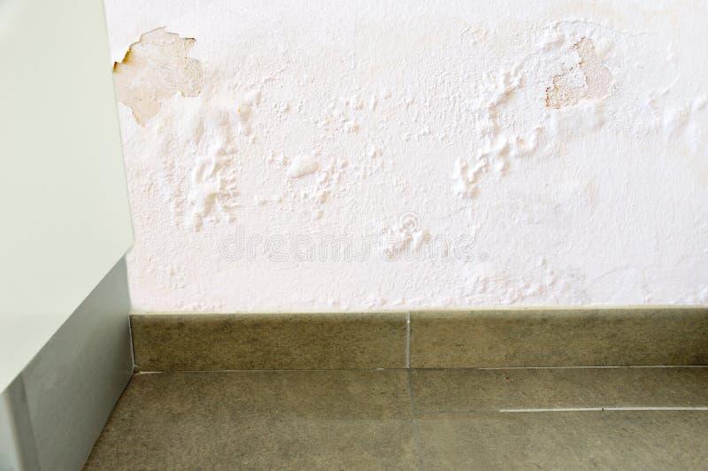 Escape del agua en la pared foto de archivo libre de regalías