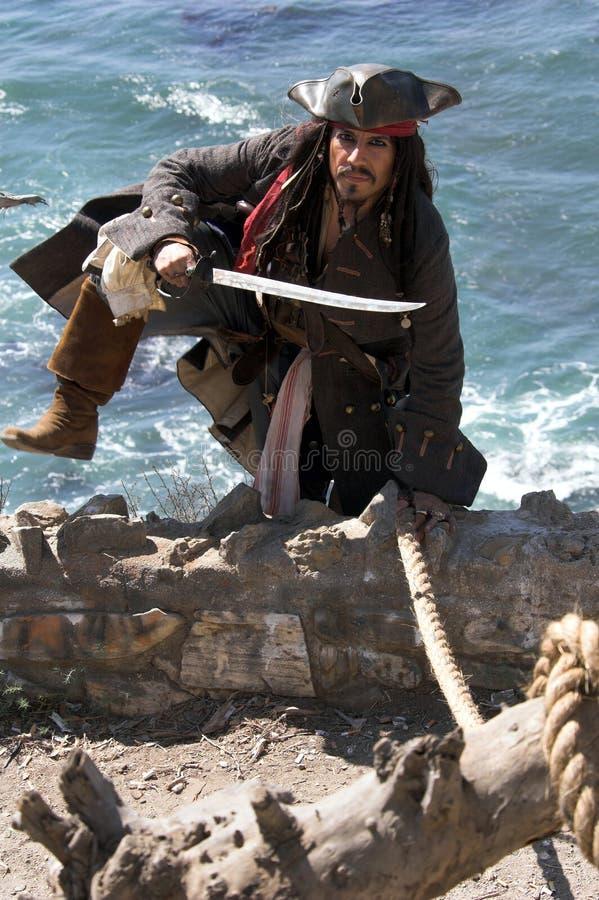Escape del pirata foto de archivo libre de regalías