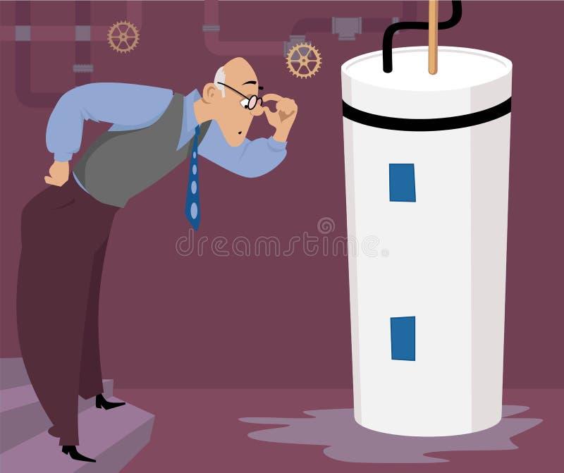 Escape do aquecedor de água ilustração royalty free