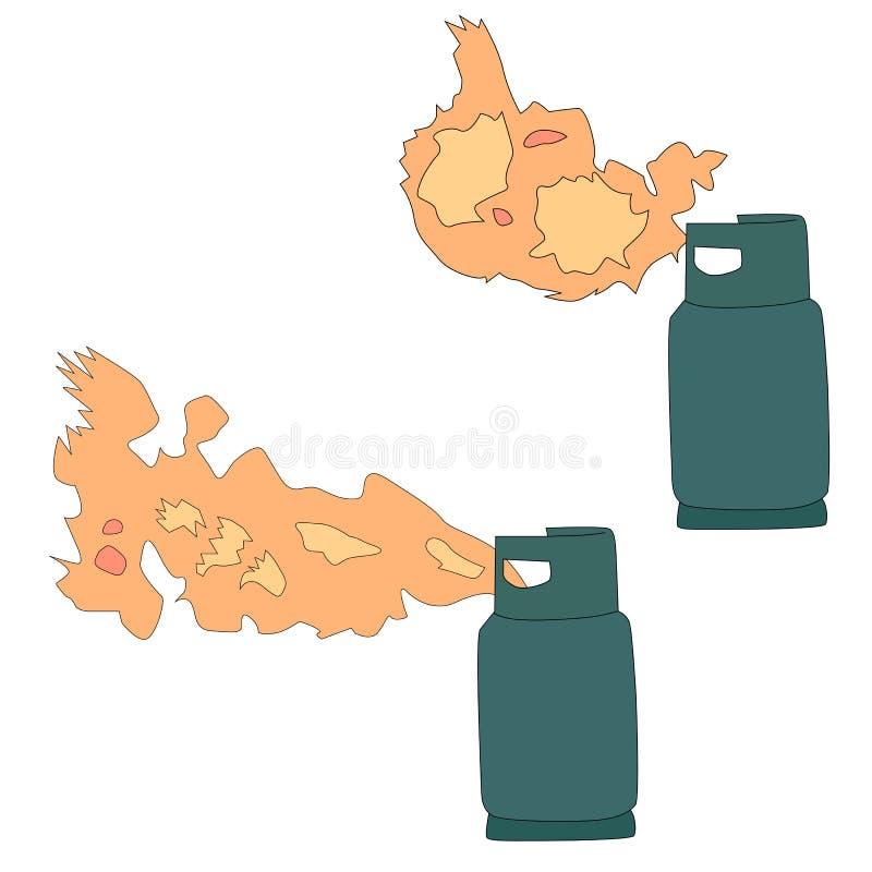 Escape do gás do propano líquido ilustração stock
