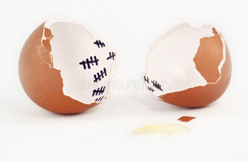 Escape do ovo imagens de stock