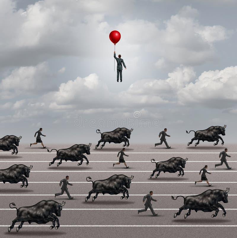 Escape el mercado alcista stock de ilustración