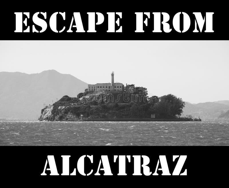 Escape från Alcatraz stock illustrationer