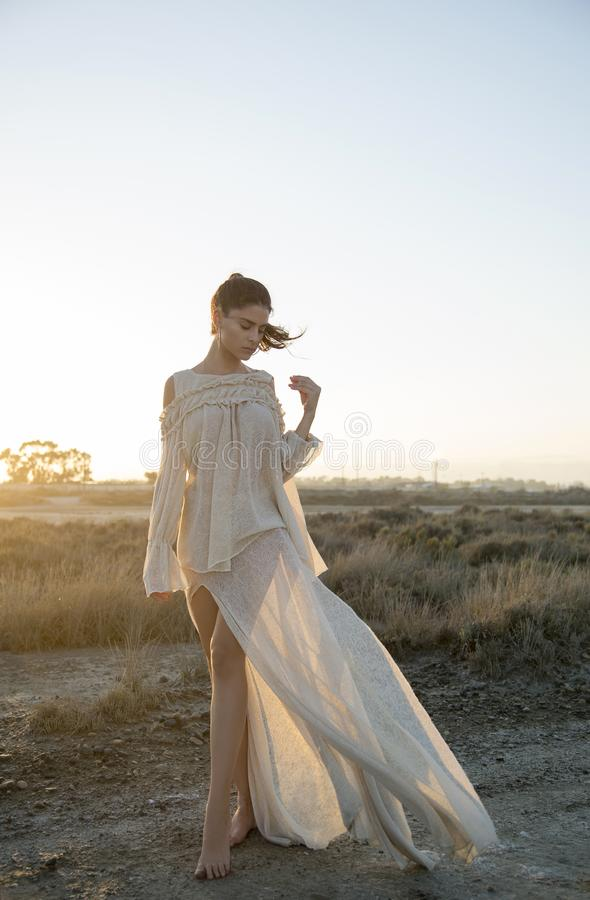 Escape romântico da tarde foto de stock royalty free