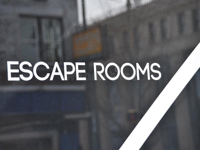 Escape Rooms. An Escape Rooms is a live-action experience. Each room has a different theme, but they all have a common objective: gather clues, solve puzzles royalty free stock images