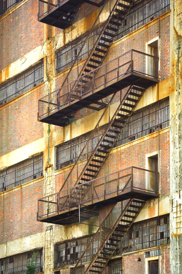 Escape Stairs stock photography