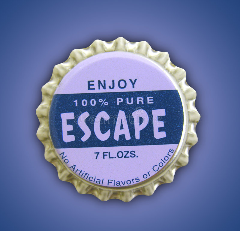 Free Escape Themed Bottlecap Stock Images - 675794