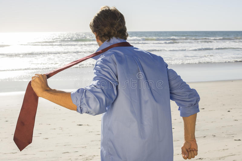 Escape to the beach stock images