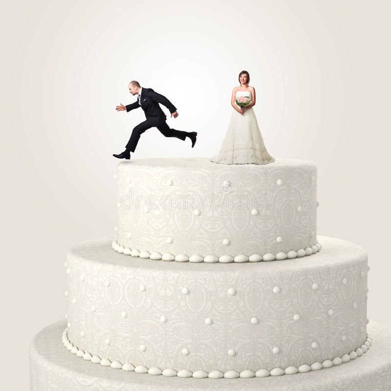 Escape From Wedding Royalty Free Stock Photo