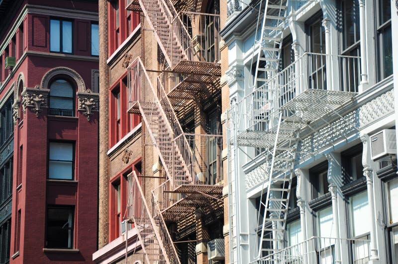 Escapes de fogo, NYC imagem de stock