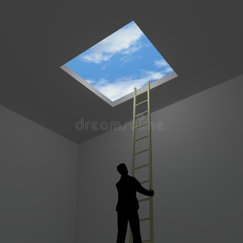 escaping stock illustratie