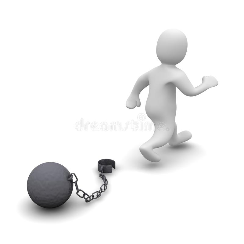 Free Escaping Criminal Stock Image - 9754841
