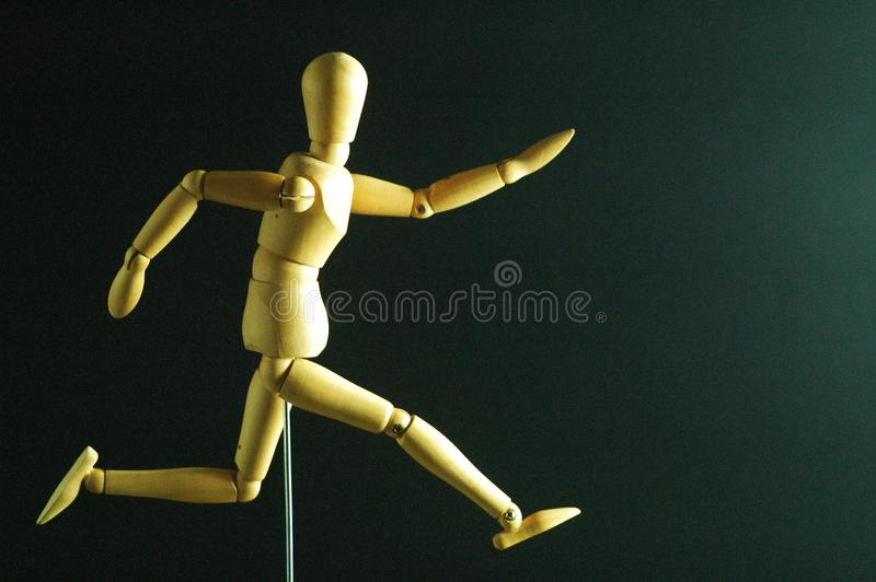 Escaping mannequin royalty free stock photo