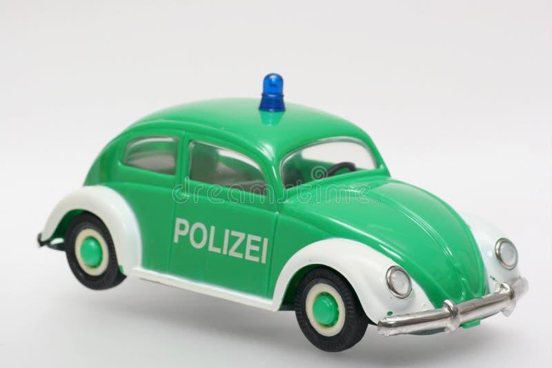 Escarabajo Alemán De Vw Del Coche Policía Del Juguete Imagen De Archivo