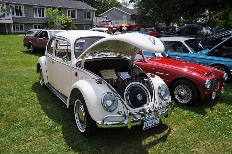 Escarabajo de Volkswagen en Car Show antiguo fotos de archivo