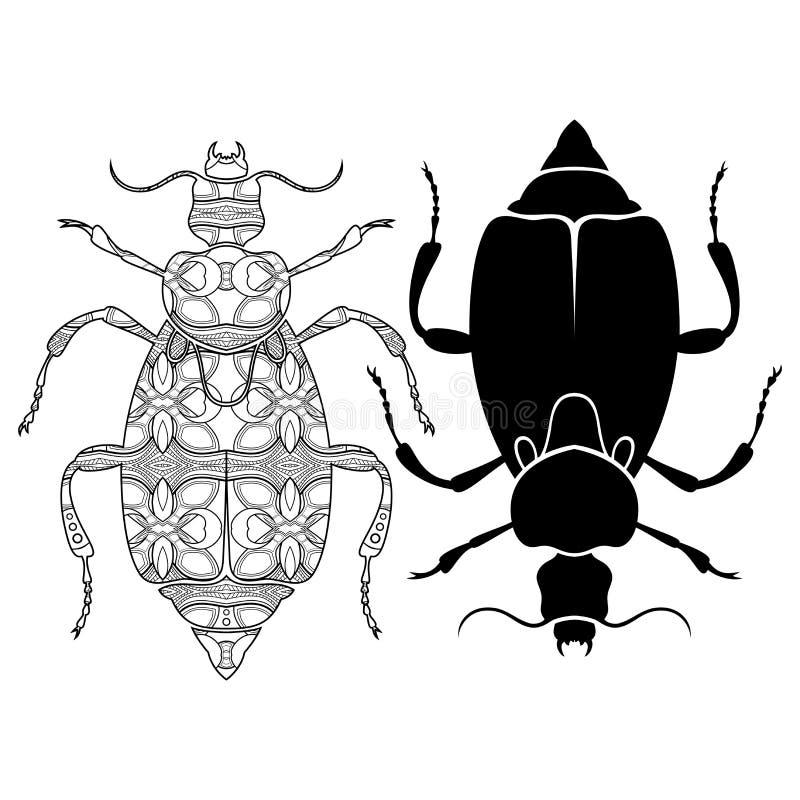 Escarabajo decorativo tribal del vector libre illustration
