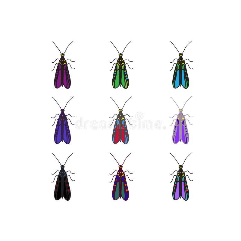 Escarabajo del color del vector imágenes de archivo libres de regalías