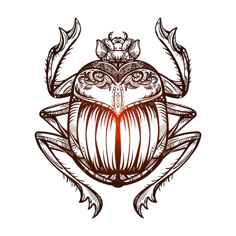 Escarabajo 2 del tatuaje libre illustration