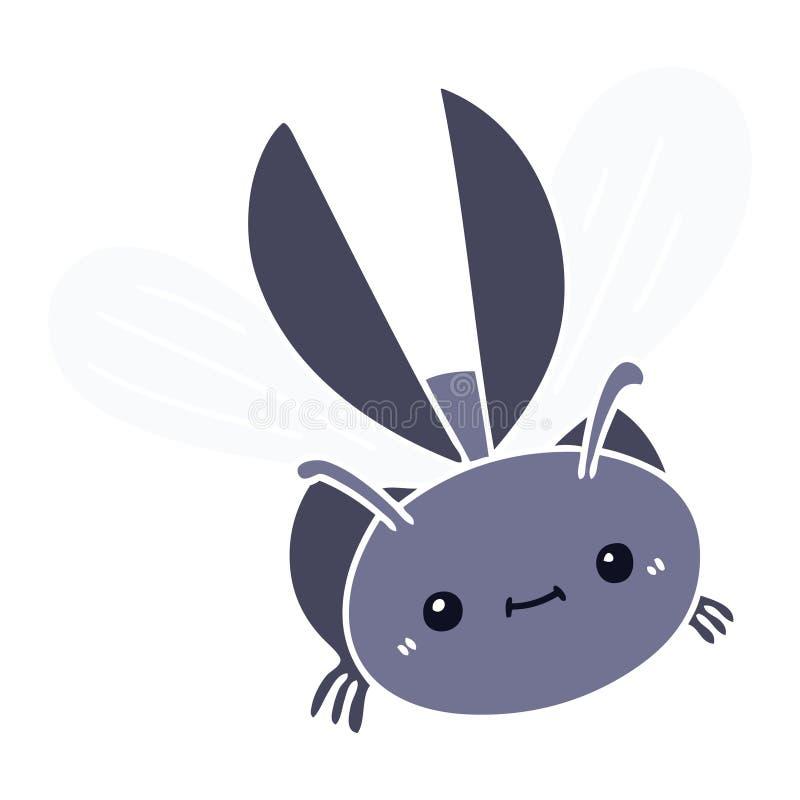 escarabajo dibujado a mano stock de ilustración