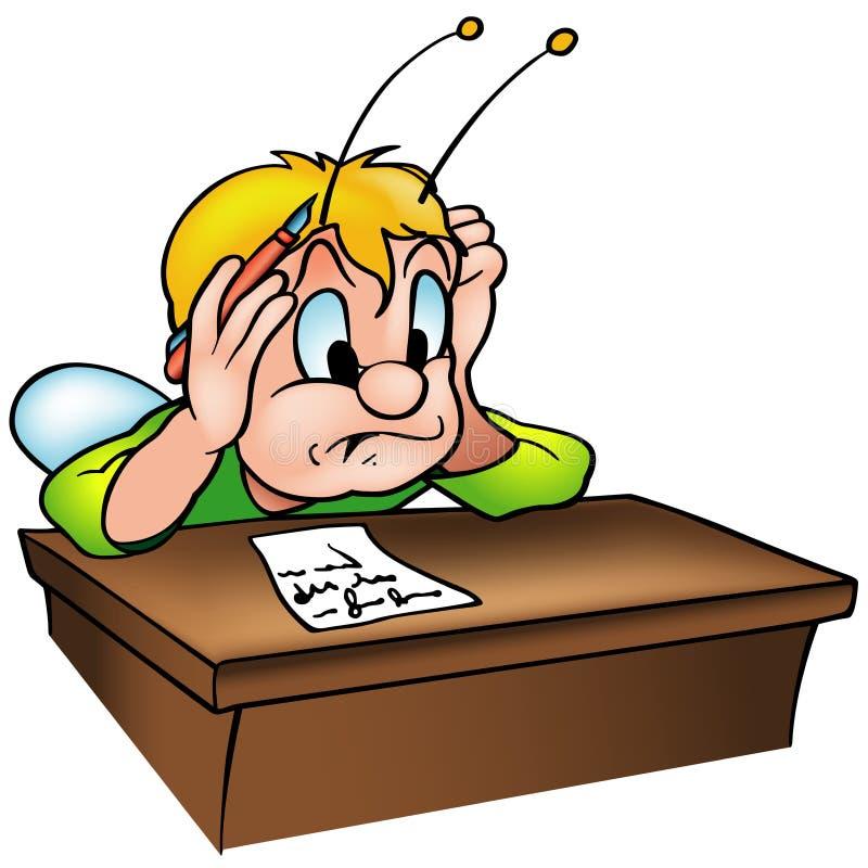 Escarabajo en escuela stock de ilustración