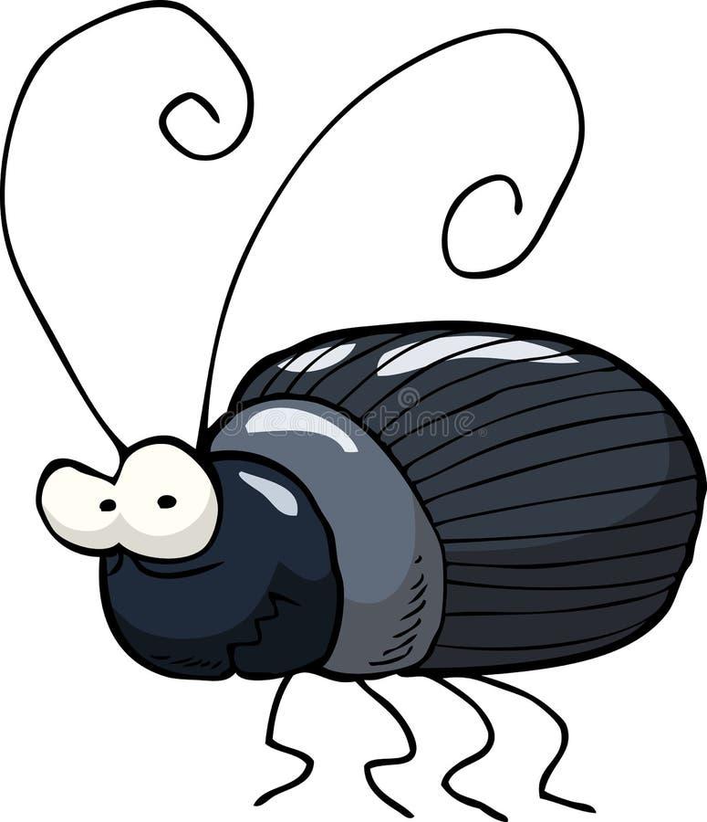 Escarabajo negro stock de ilustración