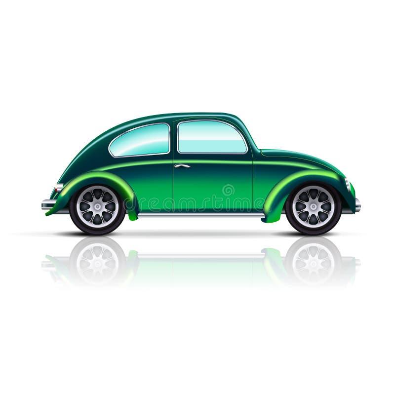 Escarabajo viejo del coche stock de ilustración