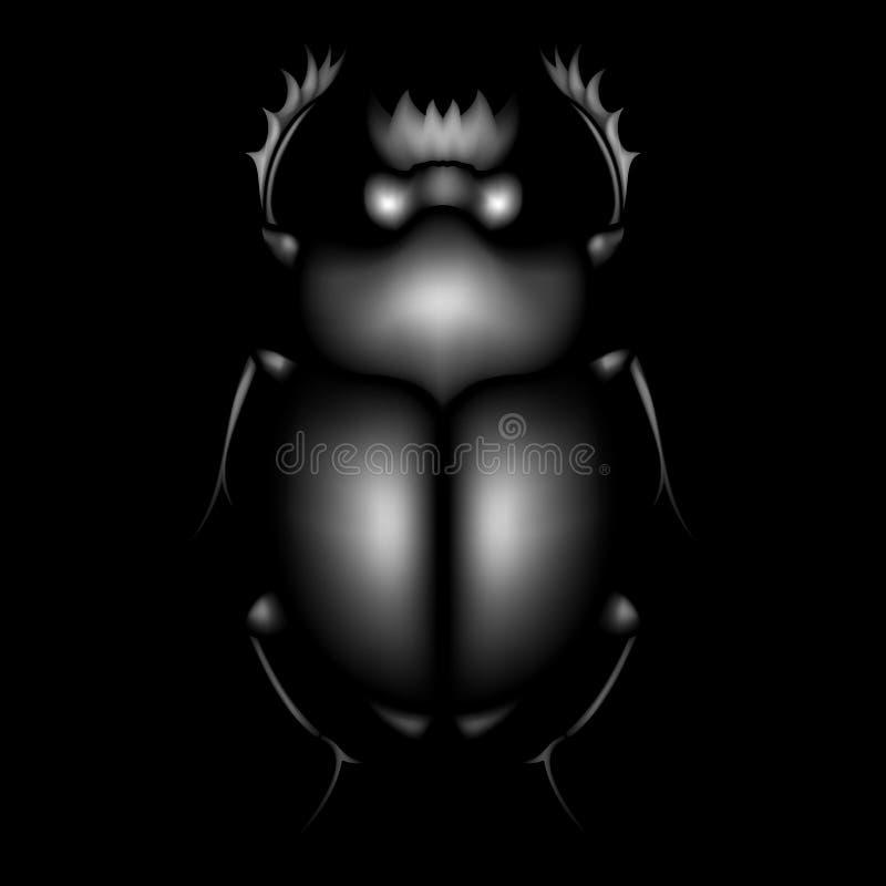 Escaravelho volumétrico do vetor Besouro decorativo ilustração royalty free
