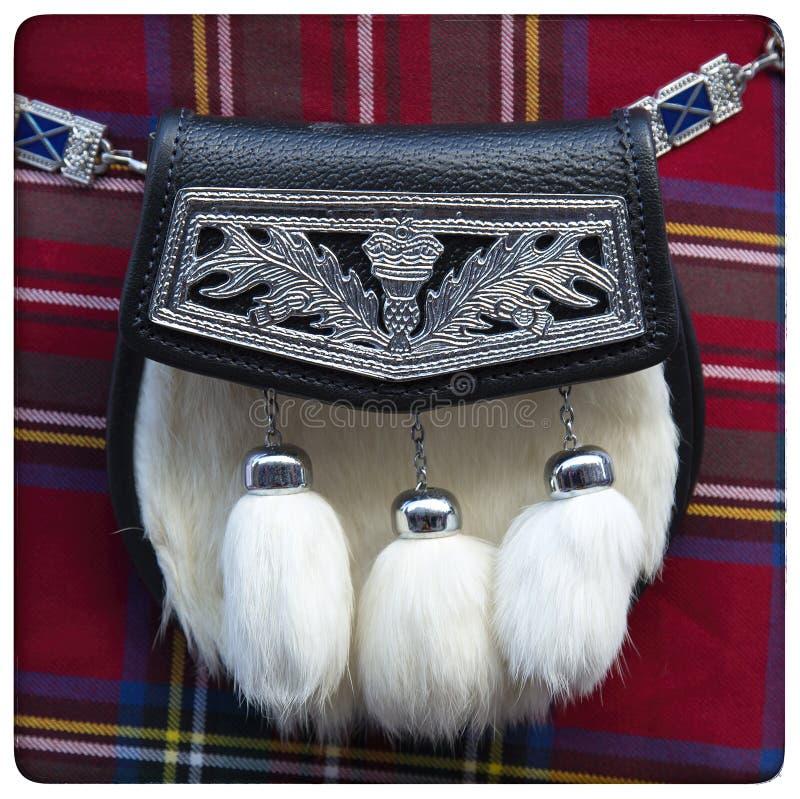 Escarcela de los montañeses de Escocia escocesa foto de archivo libre de regalías