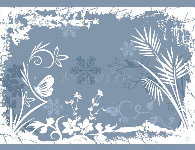 Escarchado, fondo del invierno ilustración del vector