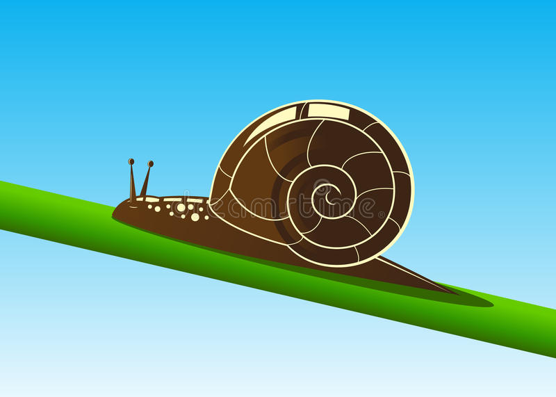 Escargot illustration libre de droits