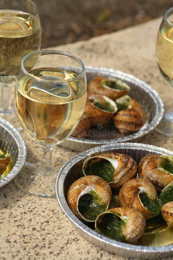 Escargot, aperitivo. fotografia de stock