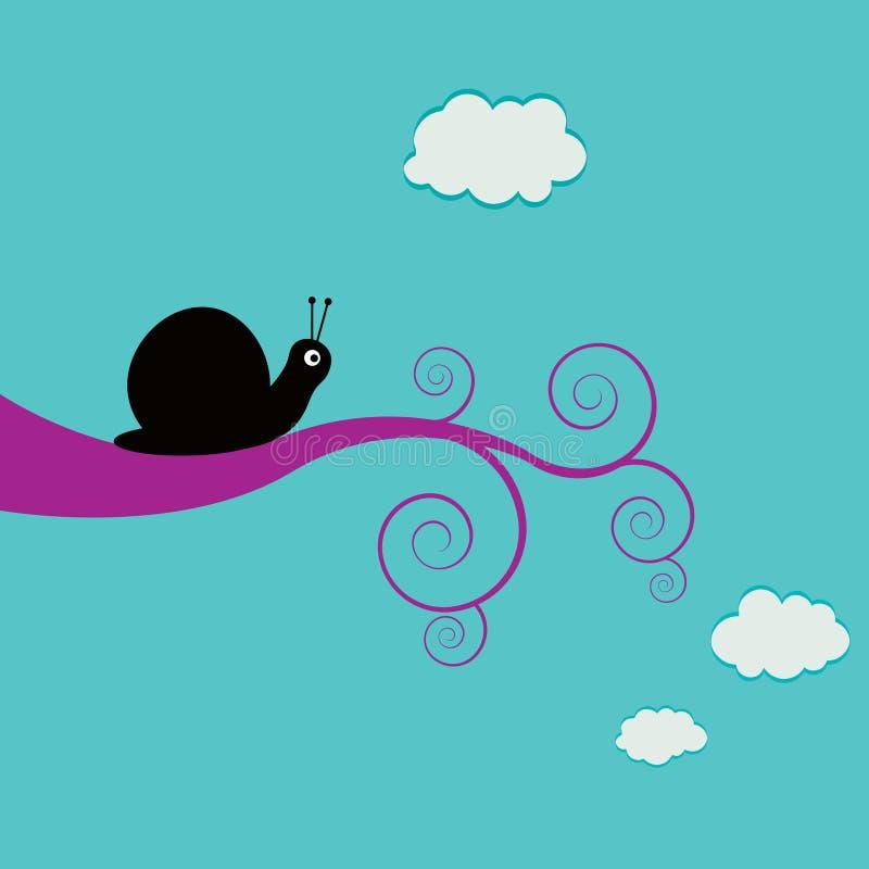 escargot de branchement swirly illustration stock