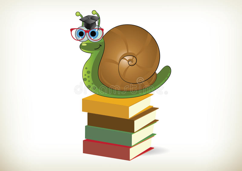Escargot instruit illustration libre de droits