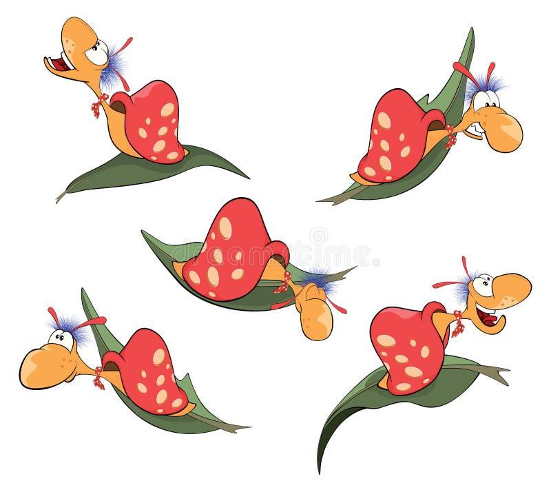Escargot malveillant réglé illustration de vecteur