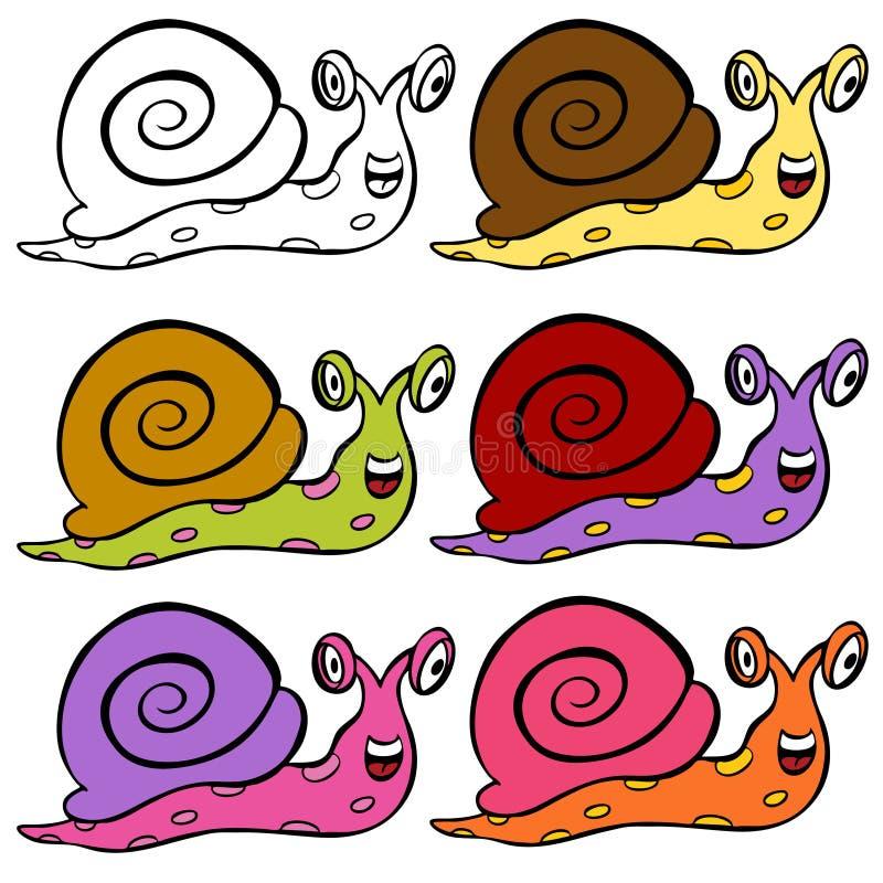 Escargot mignon de dessin anim illustration de vecteur - Clipart escargot ...