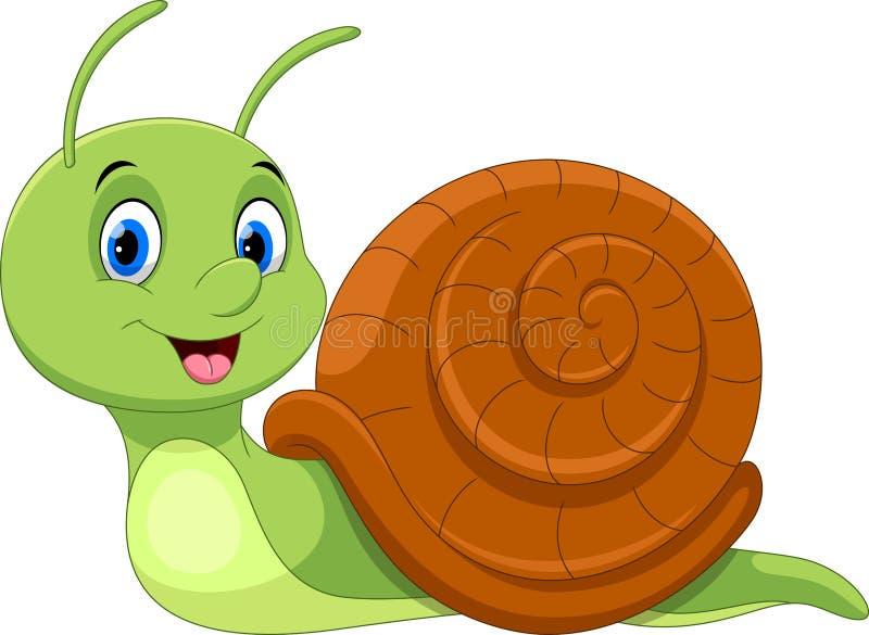 Escargot mignon de dessin animé Drôle et adorable illustration libre de droits